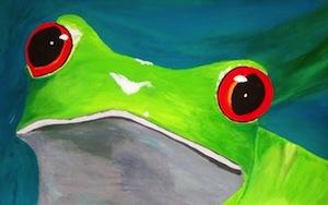 Frog Print by startsarts