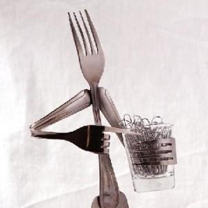 Paper Clip Holder Fork by forkedupart