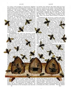Vintage BeeHive Dictionary Art Print by FabFunky