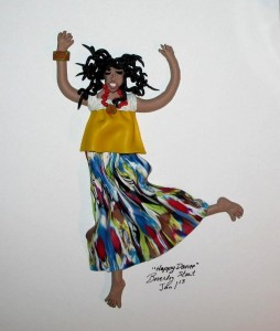 polymer clay dancer