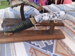 flintknapper skull knife