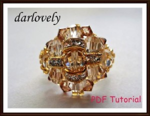 Swarovski Golden Dome Ring PDF Tutorial by darlovely