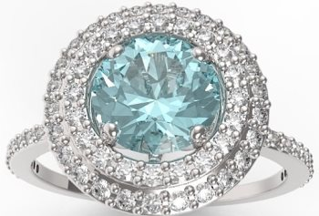 aquamarine wedding ring