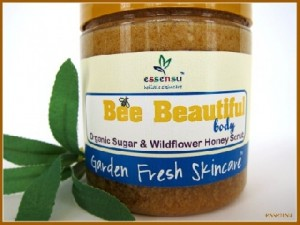 Bee honey scrub