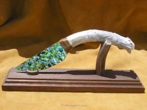 blue blade flintknapper