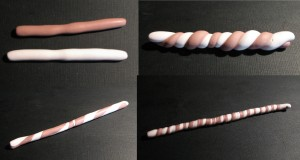 Polymer clay twist cane