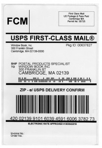 First Class Mail Label with Delivery Confirmation Barcode