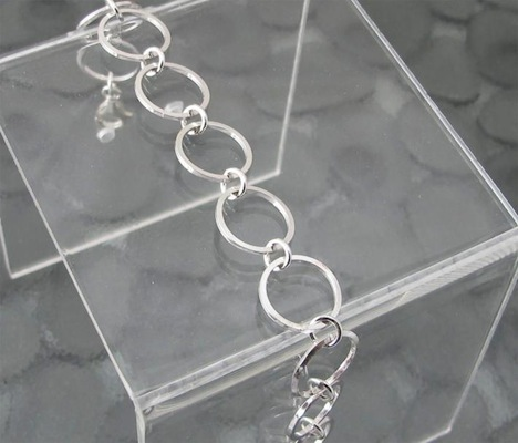 Square Wire Chain Bracelet