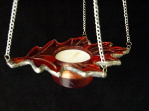 leaves candle holder hanger