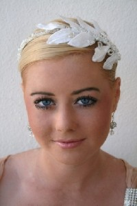 leaves wedding bridal headband