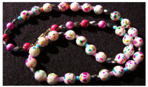 Cotton Candy Bead Necklace by rasmussengems
