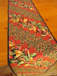 Fall Table Runner Handmade Leaves  by PatchworkMountain