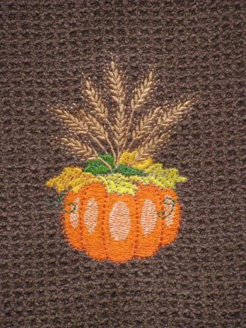 Thanksgiving Bouquet Microfiber Hand Towel Kitchen Towel by StitchinStation
