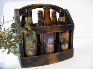 Wood 6 pack beer carrier Original beer boat by woodacooda