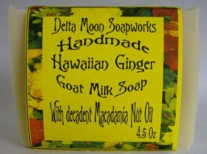 handmade ginger soap