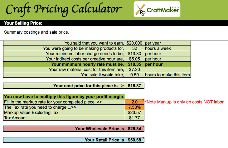 3 secrets to pricing your handmade goods correctly handmade