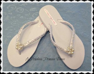 decorated flip flop bridal