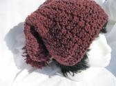 Slouchy Crochet Beanie Hat with Pom Pon for Women and Teen Girls Winter Fashion Accessory