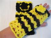 Fingerless Gloves Crochet for Women and Teen Girls Fashion Winter Accessory