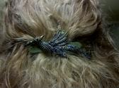 Vintage Look Studded Peacock Barrette