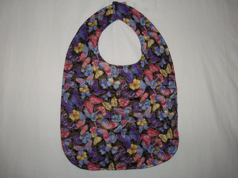 QUILTED BUTTERFLY ADULT BIB