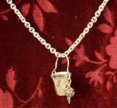 Thimbles for Buckets Antiqued Silver Rose Chain Necklace