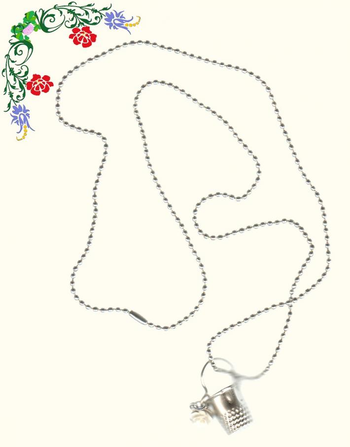 Thimbles for Buckets Ivory Rose Bead Chain Necklace