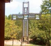 Devotion Large Stained Glass Cross Suncatcher
