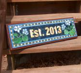 Custom Mosaic Sign  Name Address Save the Date  Indoor or Outdoor Signs