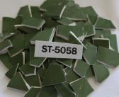 100 Pieces Green Mosaic Ceramic Tiles ST5058 Mosaic Supplies Tesserae