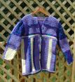 Long Cardigan Car Coat or Short Sweater Coat for Fall to Spring in Lavender and Yellow