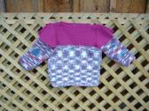 Teen Girls Variegated and Deep Rose Pullover Sweater Size medium