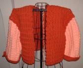 Autumn Cardigan in Orange and Peach for Ladies Size M