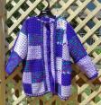 Patchwork Cardigan in Shades of Purple Size Medium