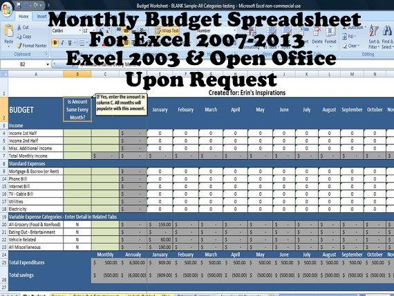 Personal Budget Template Printable and Editable Budget Planner on – Personal Budgeting Worksheets