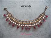 NL002 Classic Gold Ruby Dangling Necklace PDF Tutorial