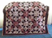 Pink Brown Indian Star Patchwork Quilt