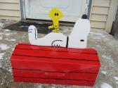 Handmade cartoon dog and bird functional wall or house mount mailbox