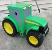 Handmade custom painted tractor birdhouse