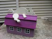 Handmade custom designed cartoon cat functional mailbox
