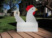 Handmade Custom Wooden Functional Hen or Chicken Mailbox