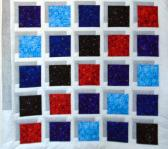 Handmade Optical Illusion Quilt Lap or Crib Size Hand Quilted