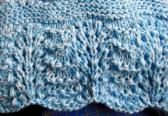 Hand Knit Baby Blue Receiving Blanket