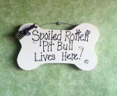 Pit Bull sign funny dog sign