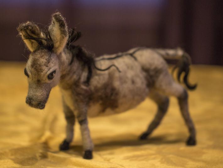 wool felted donkey on handmade artists 39 shop. Black Bedroom Furniture Sets. Home Design Ideas