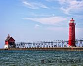 Lake Michigan Lighthouse 8x10 Color Photograph  Landscape Photography