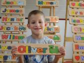 WOODEN PUZZLE NAME Oliver  free gift