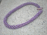 Bold and Big lavender necklace
