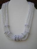 3 strand tubular herringbone necklace