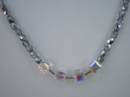 four crystal cube necklace
